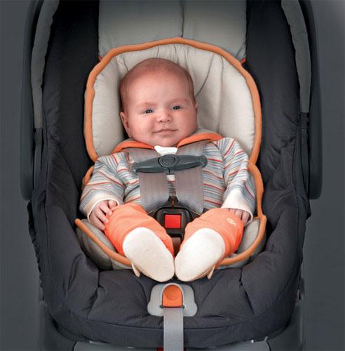 ¿Cómo deben viajar los recién nacidos?