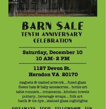 Barn Sale and Tenth Anniversary Celebration