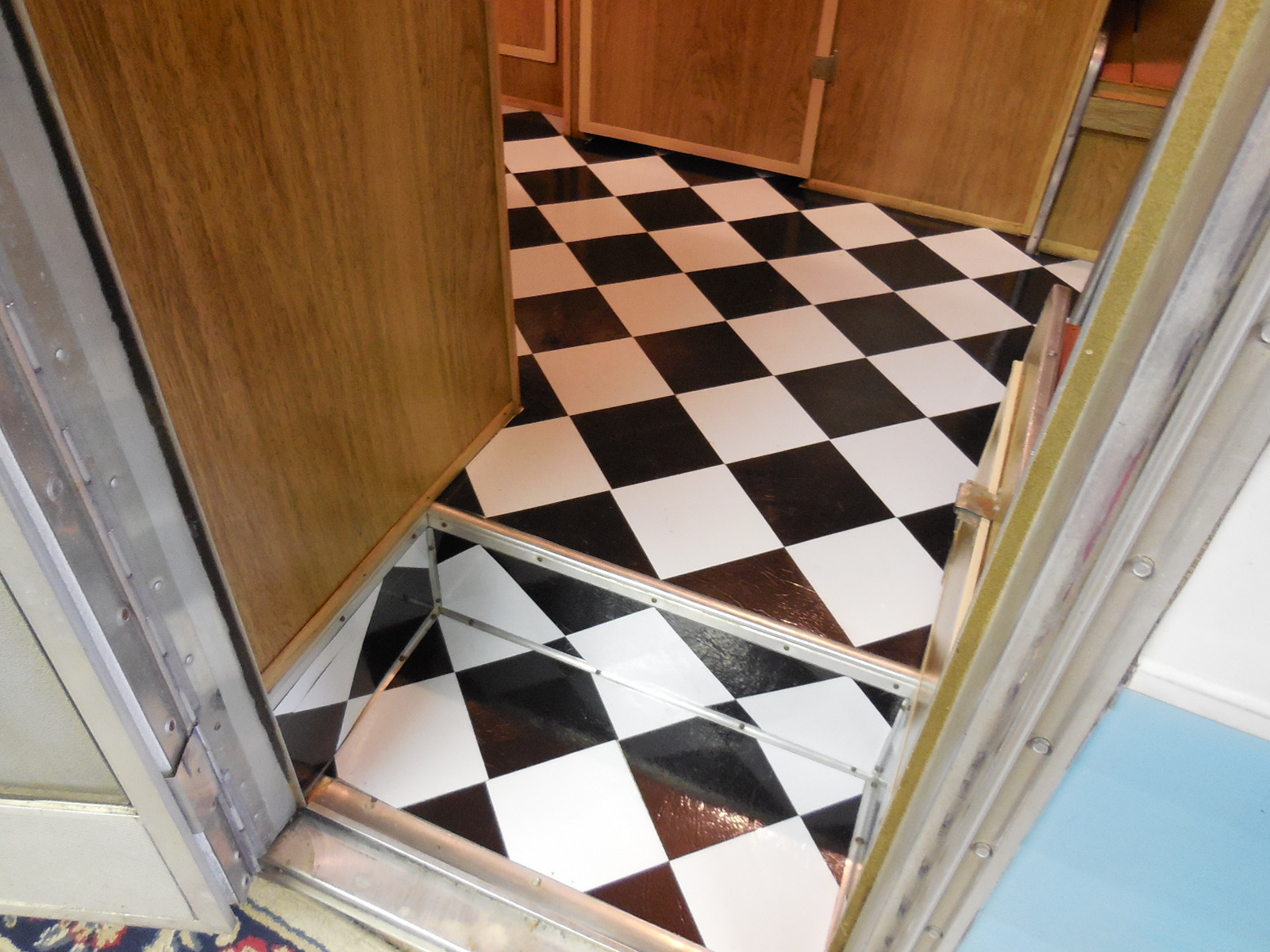 Eileen Hull Vintage Camper Flooring Finished Stairs