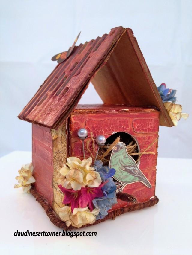 Bird House Artist Trading Block by Claudine Criner | Eileenhull.com