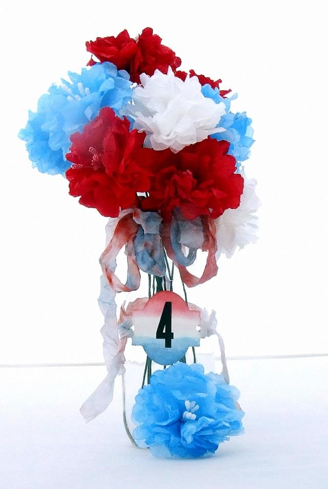 Red, White and Blue Flower Arrangement by Donna Budzynski | Eileenhull.com