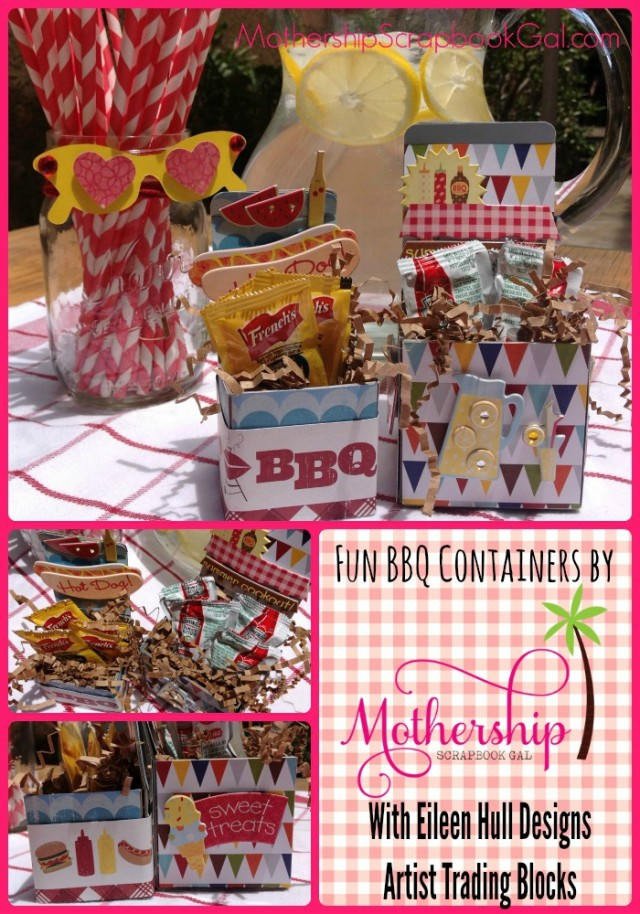 Celebrations} Artist Trading Block BBQ Containers by Rina Gonzales| Eileenhull.com