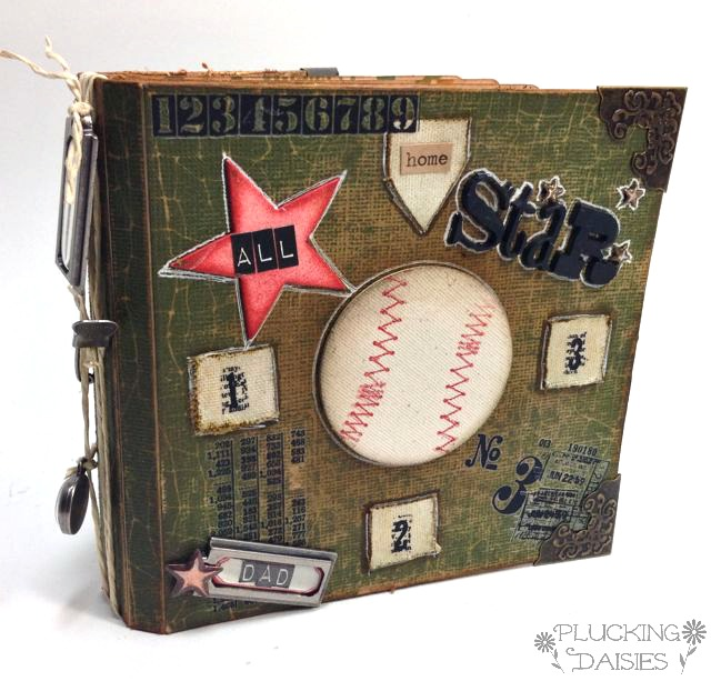 Baseball Themed Father's Day Mini-Album by Amy Bowerman | Pluckingdaisies.com