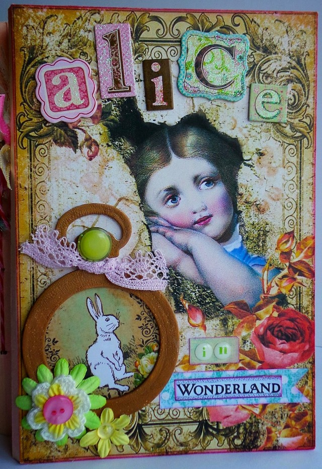 Alice in Wonderland Junk Journal by Tonya Trantham | Eileenhull.com