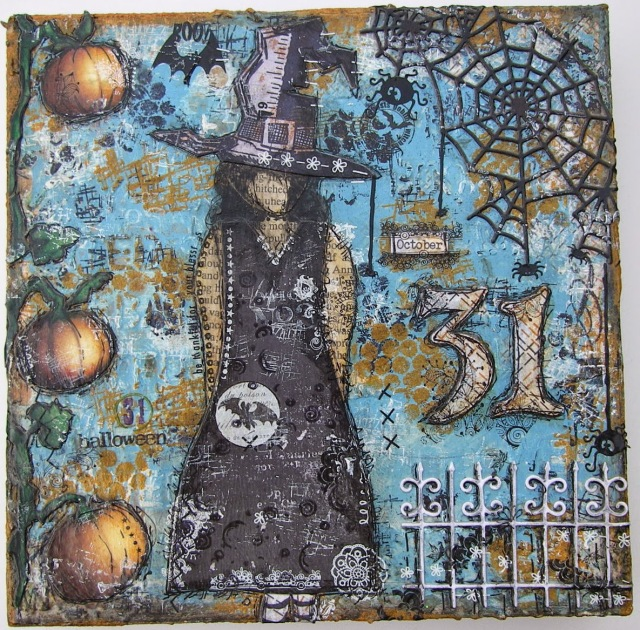 Halloween Mixed Media Canvas by Having a Me Day