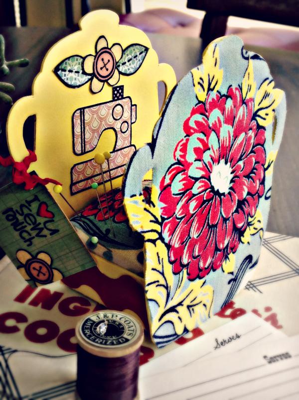 Vintage Kitchen Cookie Jar Pin Cushion Tutorial by Michelle Zerull | Eileenhull.com