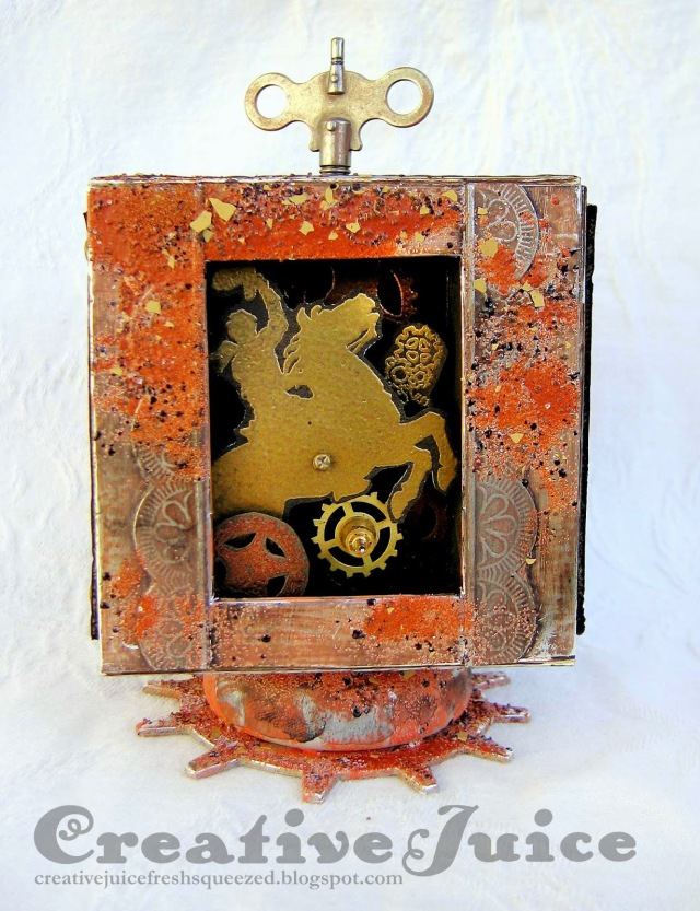 Western Steampunk Music Box ATB by Lisa Hoel