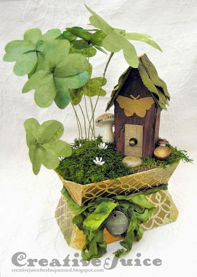 Vintage Kitchen Leprechaun House by Lisa Hoel