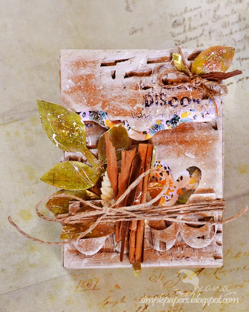 Rustic Recycled Recipe Card Box by Oxana Moupasiridou