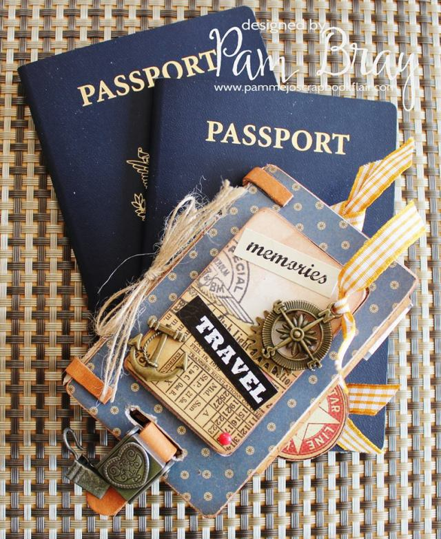 Vintage Travel Luggage Tag Mini Book by Pam Bray | Eileenhull.com