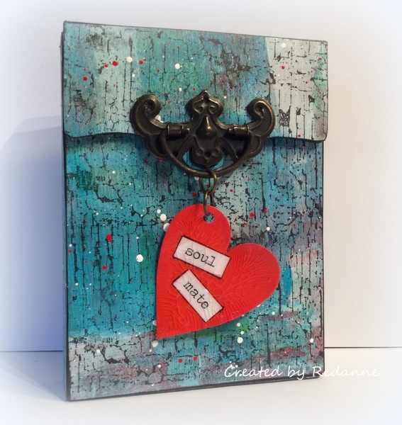 n Minute Mixed-Media Sizzix Recipe Card Box Tutorial with DecoArt Media by Anne Redfern