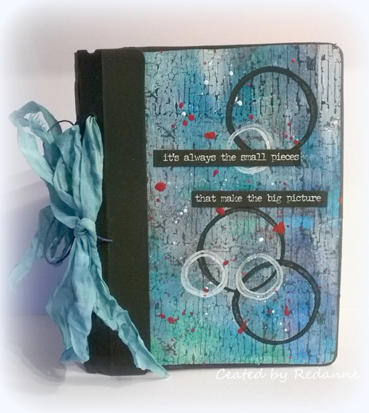 Mixed-Media Mini Book with Eileen Hull Sizzix Dies and Stampendous by Anne Redfern