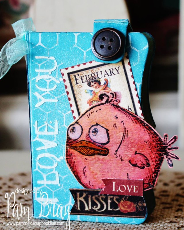 Quick and Easy Sizzix Needle Book Mini Album Tutorial by Pam Bray