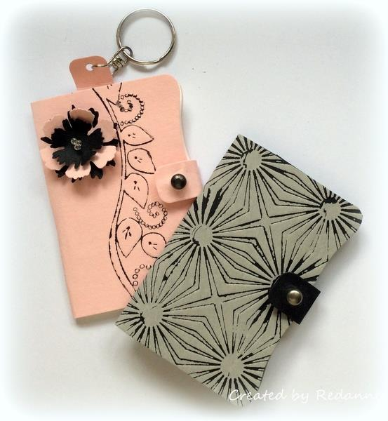Sizzix Paper Leather and Ink Sheets Needle Book Keyring Tutorial by Anne Redfern