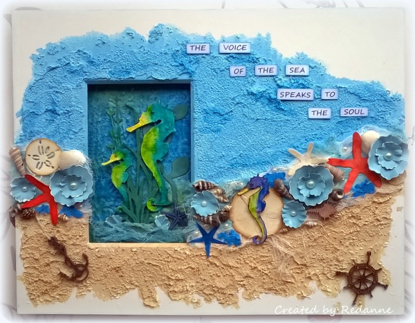 Create with Crescent: Seascape Sizzix Collage Tutorial by Anne Redfern