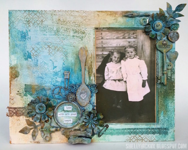 Create with Crescent: Vintage Photo Collage Tutorial with Eileen Hull Sizzix dies by Shelly Hickox
