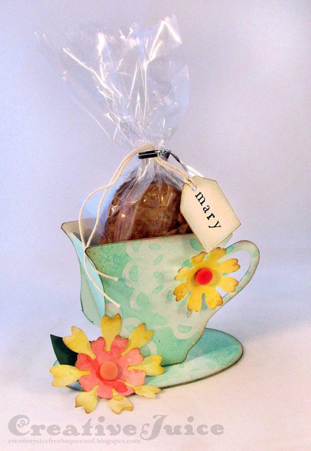 Sizzix Party Ideas: Eileen Hull 3-D Tea Cup Favor Box Tutorial by Lisa Hoel