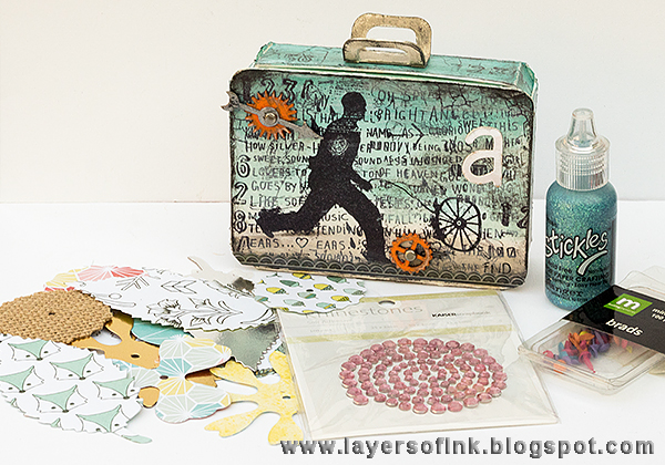 Sizzix Party Decor Tutorials: Eileen Hull Creative Treasures Suitcase Favor by Anna-Karin Evaldsson