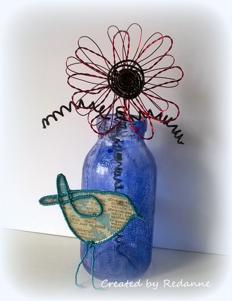 Eileen Hull Twist and Style Tool Project Ideas : Wire Flower and Bird Tutorial by Anne Redfern