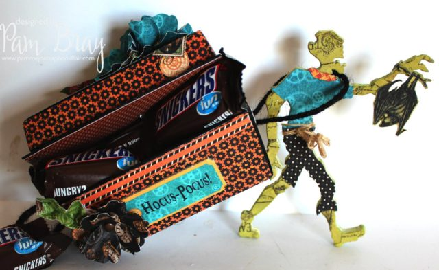 Eileen Hull Halloween Sizzix Projects: Hocus Pocus Coffin Treat Container by Pam Bray
