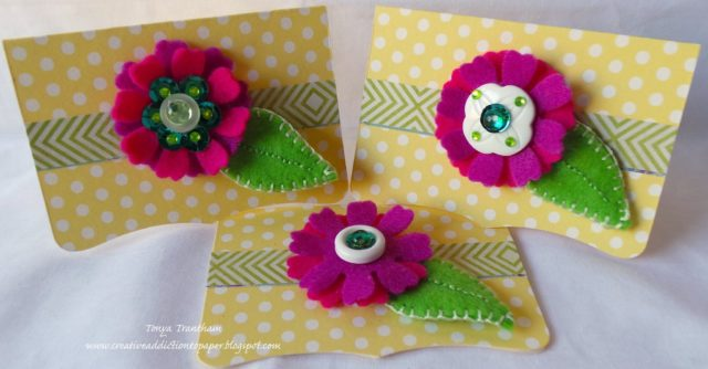 Create Cards with Sizzix: Eileen Hull Needle Book Mini Cards by Tonya Trantham