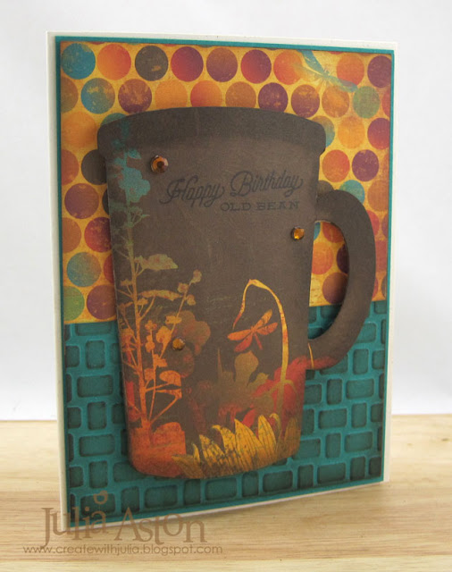 Creative Cards Using Sizzix Dies: Eileen Hull Mug and Spoon Card by Julia Aston