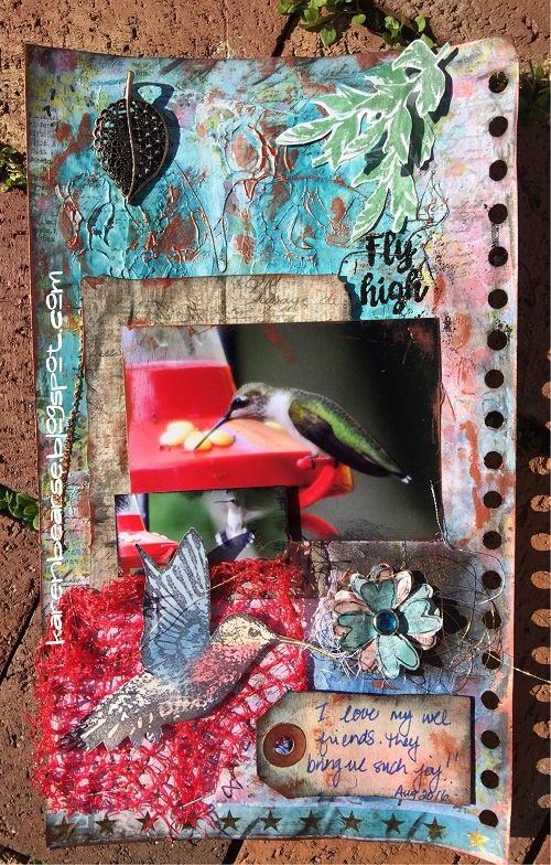 Eileen Hull Blends Ink Tutorials: Hummingbird Journal Page by Karen Bearse