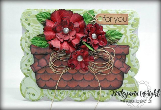 Heartfelt Sizzix Collection by Eileen Hull : Flower Basket Card by Mitsyana Wright