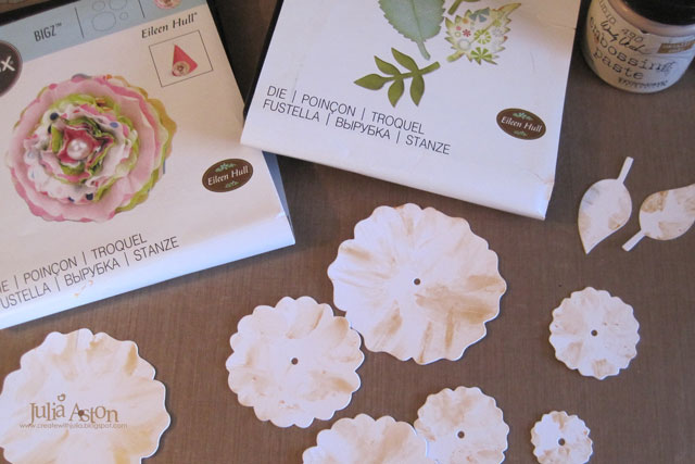 Make it Monthly: Faux Gilded Sizzix Flowers with 3-D Vase Tutorial by Julia Aston