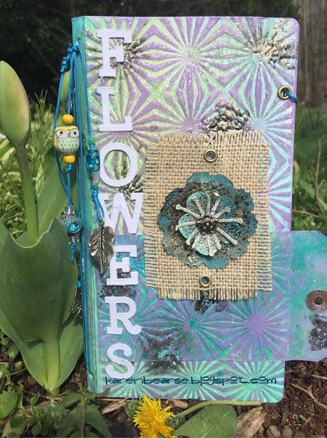 HeARTfelt Handmade Journal Ideas: Eileen Hull Garden Journal by Karen Bearse