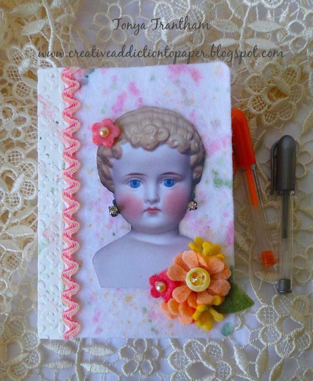 Kunin Felt with Eileen Hull's Heartfelt Sizzix Collection: China Doll Passport Journal