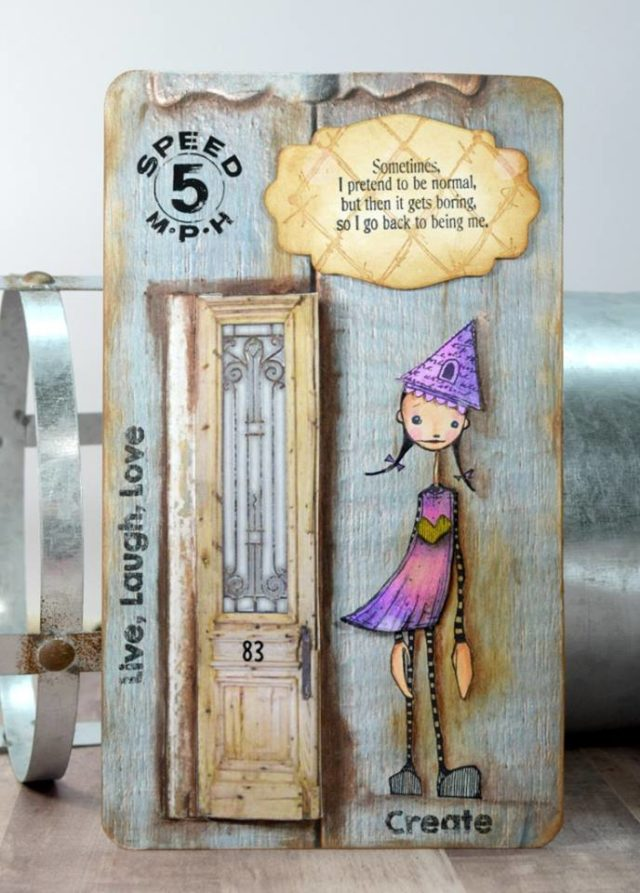 Ultimate List of Stampotique Sizzix Project Tutorials: Art Board by Donna Budzynski