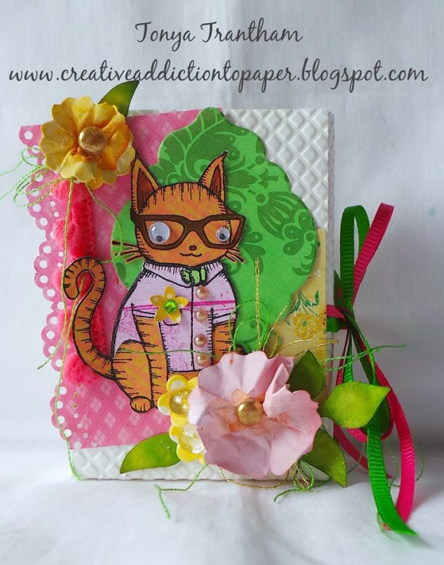 Stampotique Sizzix Project Tutorials: Nerdy Cat Caddy Box by Tonya Trantham