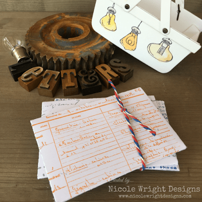 Eileen Hull Sizzix Projects with Stampotique: Patio Lights Letter Card Basket Tutorial by Nicole Wright