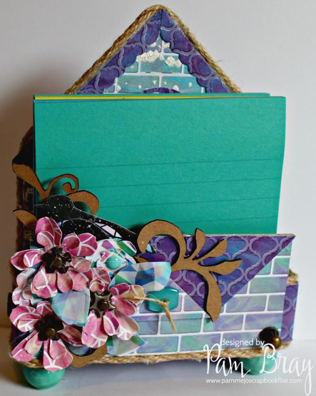 Unique Heartfelt Sizzix Tutorials: House Pocket Note Card Holder by Pam Bray