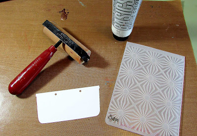 Make it Monthly: Sizzix Foam Stamp Resist Technique Tutorial by Lisa Hoel
