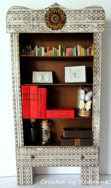 Unique Heartfelt Sizzix Tutorials: Journal Die Bookcase by Anne Redfern