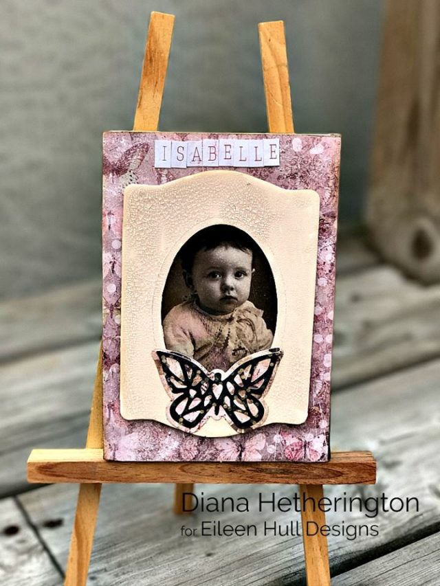 New Book Club Sizzix Collection Preview: Stamp and Photo Storage Frame by Diana Hetherington
