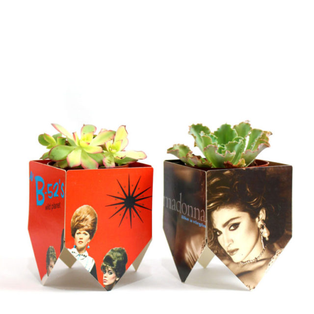 Unique Heartfelt Sizzix Tutorials: Record Album Cover Plant Stands by Jonathan Fong