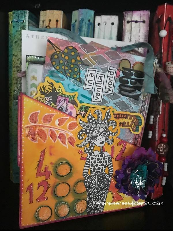 Eileen Hull's New Book Club Sizzix Collection: Dylusions Art Card Storage Box by Karen Bearse
