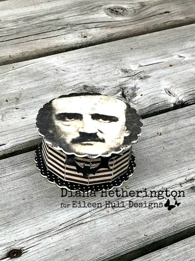 Eileen Hull Holiday Craft Project Techniques and Tutorials: Edgar Allen Poe Cookie Box by Diana Hetherington