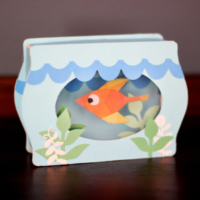 Eileen Hull's New Book Club Sizzix Collection: Trinket Box Fish Bowl by Jonathan Fong