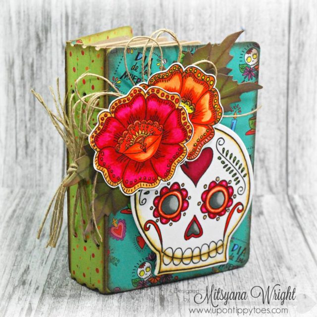 Fall Holiday Sizzix Project Tutorials: Day of the Dead Art Journal by Mitsyana Wright