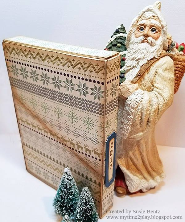 Book Club Sizzix Collection Project Ideas: Holiday Photo Storage By Susie Bentz