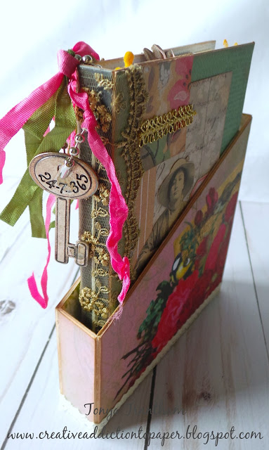 Sizzix Book Club Project Tutorials: Stamp Storage Mini Album with Storage and Organizer Holder by Tonya Trantham