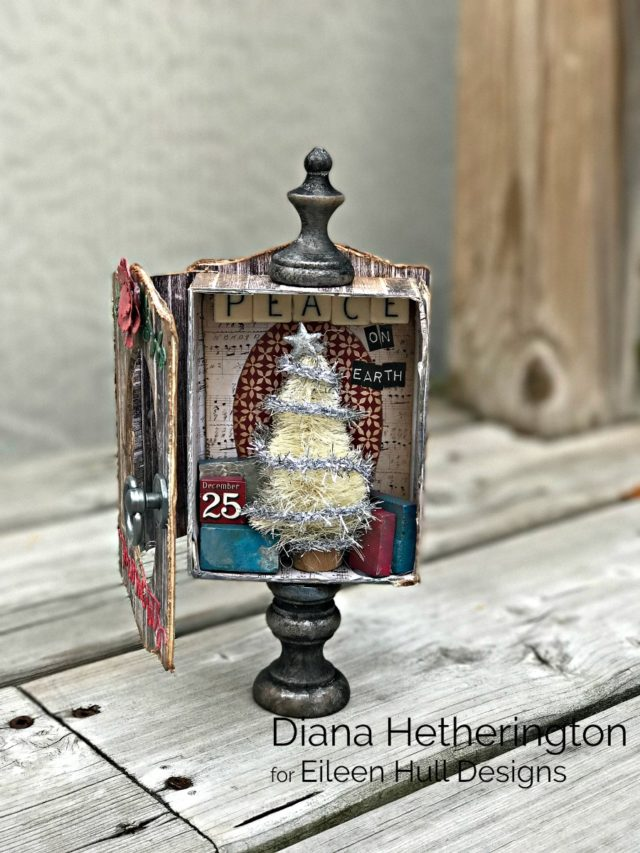 Book Club Sizzix Collection Project Ideas: Trinket Box and Frame Holiday Vignette by Diana Hetherington