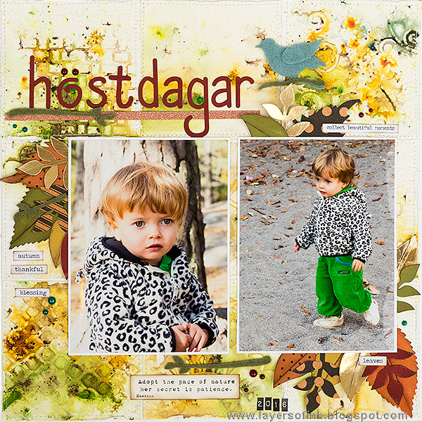 Fall Holiday Sizzix Project Tutorials: Fall Days Layout by Anna-Karin Evaldsson