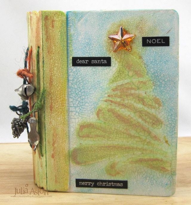 Eileen Hull Holiday Gifts and Decor Projects: Mixed Media Passport Book Christmas Photo Album by Julia Aston