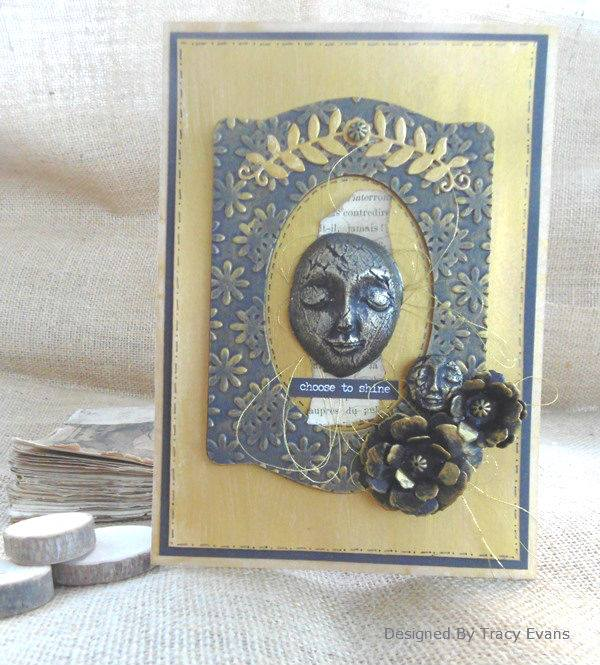 Book Club Love Sizzix Projects: Framed Art Piece with Wax and Clay by Tracy Evans