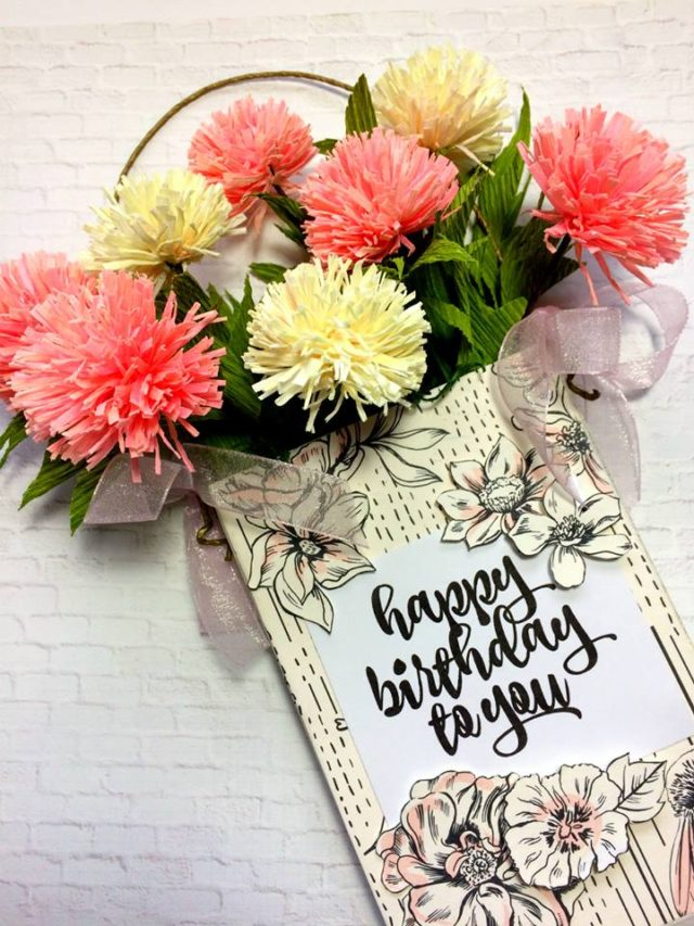 Book Club Sizzix Projects to Love: Hanging Flower Holder and Birthday Card by Michelle Zerull